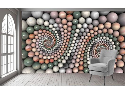 Renkli Taş Desenli Duvar Kumaşı
