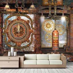 Antik Saatler Duvar Kumaşı#3
