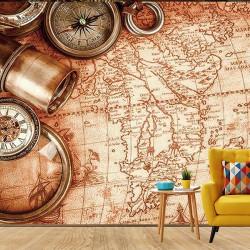 Antik Harita Duvar Kumaşı