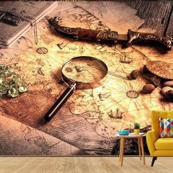 Piri Reis Haritası Duvar Kumaşı