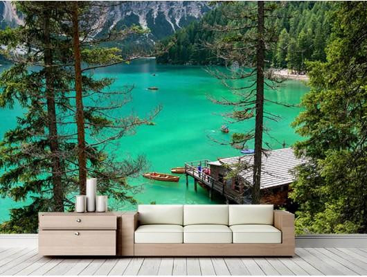 Göl Manzaralı Duvar Kumaşı