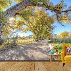 Ağaçlı Yol Duvar Kumaşı