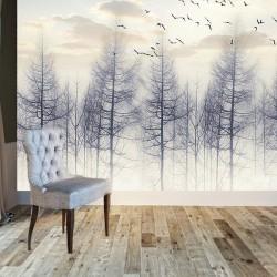 Suliletli  Sonbahar Ağaçlar Duvar Kumaşı
