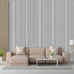 Gri Çizgiler Duvar Kumaşı