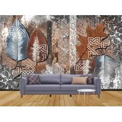 Yaprak Desenli Duvar Kumaşı