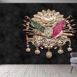 Osmanlı Arması Görseli Duvar Kumaşı