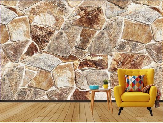 Eski Taş Desenli  Duvar Kumaşı