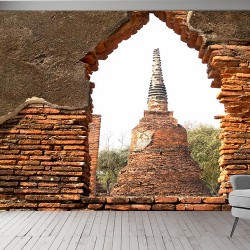 Ayutthaya Tarihi Parkı Duvar Kumaşı