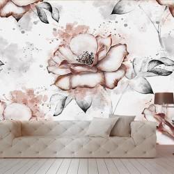 Gulise Desenli Duvar Kumaşı