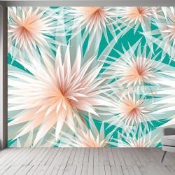 Pembe Çiçekli  Duvar Kumaşı