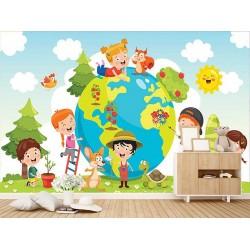 Çocuk Odası Duvar Kumaşı#4