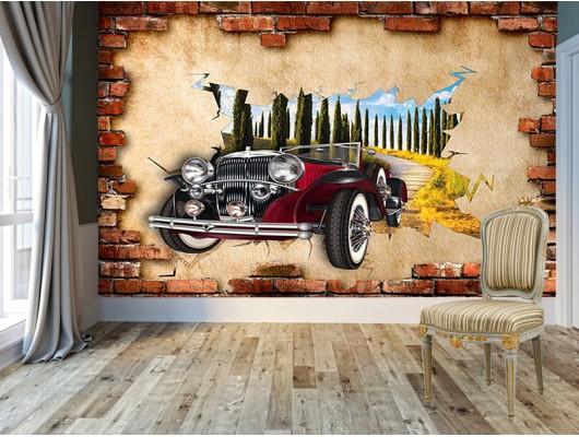 Antika araba Duvar Kumaşı