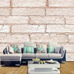 Eskitme Tuğla Desenli Duvar Kumaşı