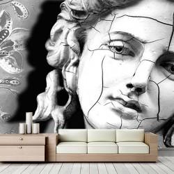 Kırık Kadın Heykeli Duvar Kumaşı